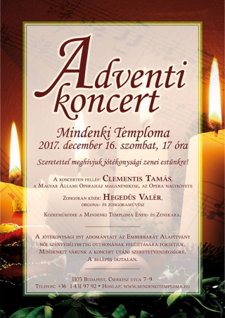 Adventi koncert a Mindenki Templomában