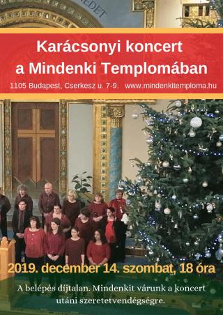 Karácsonyi koncert a Mindenki Templomában